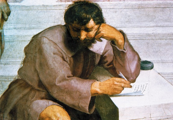 Heraclitus of Ephesus; detail from Raphael's <i>The School of Athens</i>, circa 1509