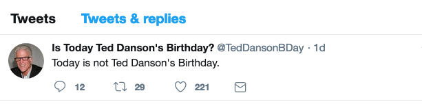 Ted bday