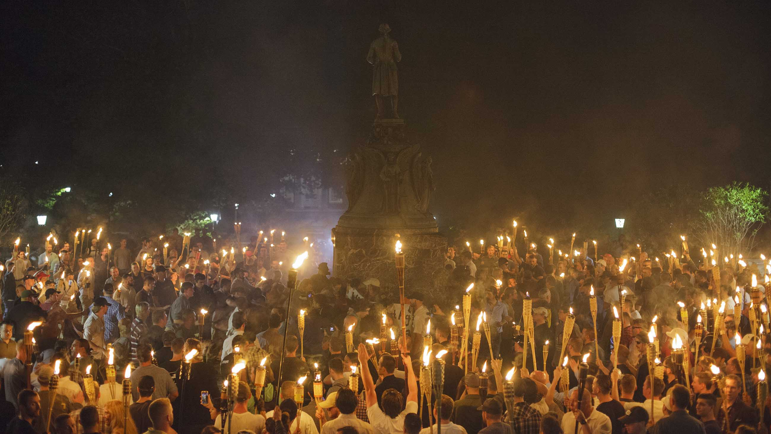 Alt Right, Neo Nazis hold torch rally at UVA