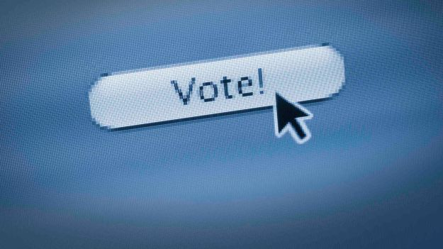 Clicking on VOTE web button on website