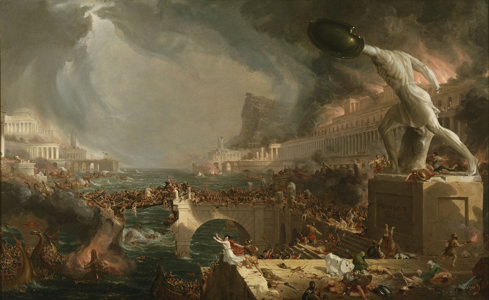 The Course of Empire: Destruction, 1836 (oil on canvas)