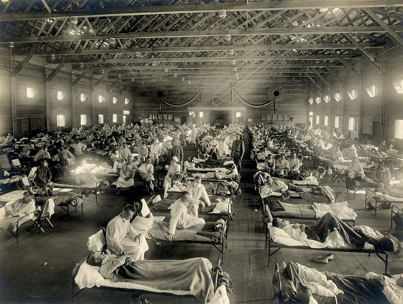 795px-Emergency_hospital_during_Influenza_epidemic,_Camp_Funston,_Kansas_-_NCP_1603