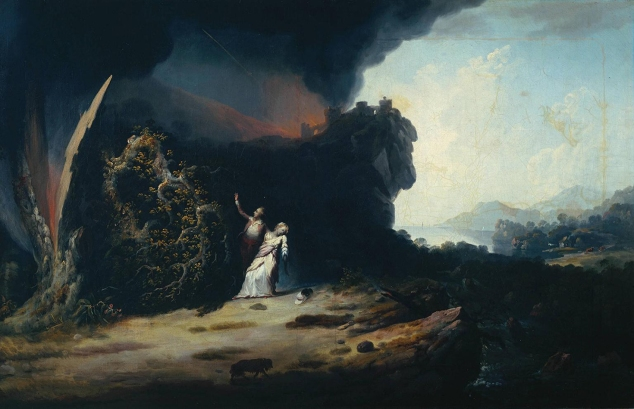 Thunderstorm with the Death of Amelia 1784 by William Williams active 1758-1797
